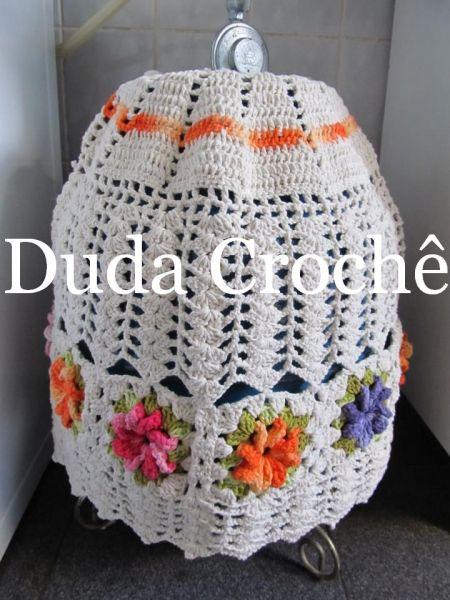 magia do croche(ruthy nascimento): capa de botijão em croche